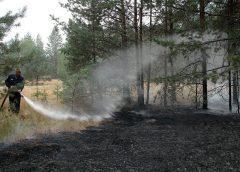 тушение пожара населением