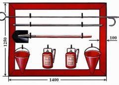 Размеры пожарного щита