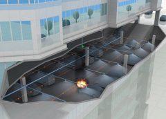Макет размещения модулей пожаротушения тонкораспыленной водой