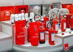 Пожарные средства на выставке