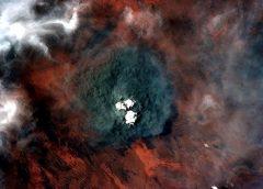 Вид пожаров из космоса