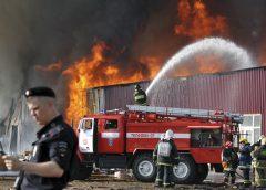 Тушение пожара в подвалах зданий