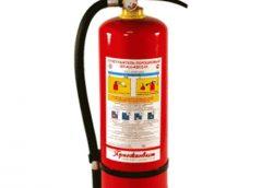 Огнетушителя для тушения электроустановок